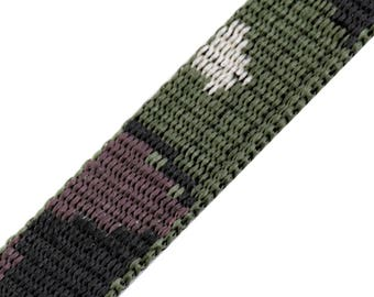 Strap 20 mm military camouflage polypropylene