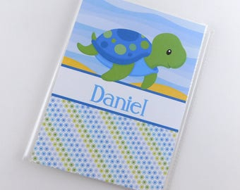 Grandmas Brag Book Boy Baby Photo Album Green Blue Sea Sea Turtle Shower Gift 5x7 or 4x6 Pictures Under the Sea 845
