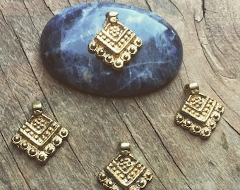 Charm Brass 5/10/20 PC Tribal brass charm 22 mm art supplies metal beads bohemian metal Antique Brass artofgoddess