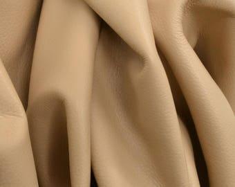 "Almond Joy ""Signature""  Leather Cow Hide 8"" x 10"" Pre-Cut  2 1/2-3 oz flat grain DE-52173 (Sec. 8,Shelf 3,C)"