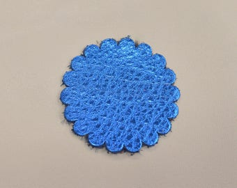 """12 pack - Electric Blue Oasis """"Vegas Collection"""" Leather Concho Rosette 2"""" TA-59965 (Sec 1, Shelf 2,A)"""