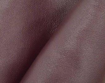"Divine Dark Red Wine ""Signature""  Leather Cow Hide 8"" x 10"" Pre-cut 2-3 oz flat grain DE-61631 (Sec. 8,Shelf 3,C)"