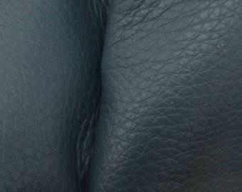 "Lovely Lagoon Blue Leather New Zealand Deer Hide 8""x 10"" Pre-cut 3 1/2-4 ounces-26 DE-66159 (Sec. 4,Shelf 4,A)"