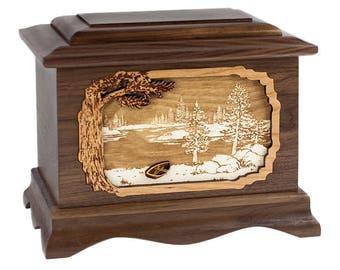 Walnut Lakeshore Ambassador Wood Cremation Urn