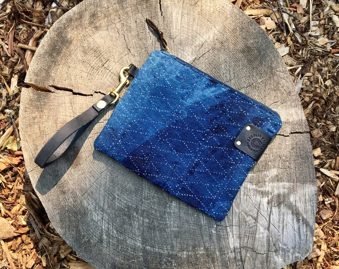 Zooey Denim clutch