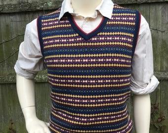Vintage Brooks Brothers Colorful Sweater Vest - Mens Size Large
