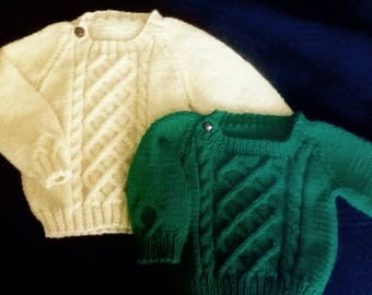 Green St. Patrick's Day Baby or Toddler Sweater