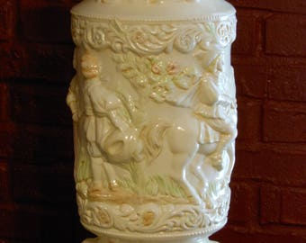 Vintage Medieval-Theme Embossed Umbrella Stand or Vase
