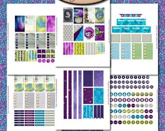 Digital Sticker Sheets, Daily Planner, Happy Planner: Thankful