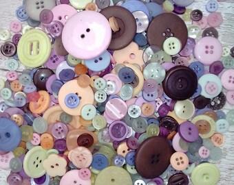 Mixed natural color buttons, wholesale buttons, bulk buy buttons, UK seller, Matildas crafts, scrapbooking, button art, brown buttons, cream