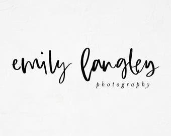 Premade Logo Design | Simple Logo | Photography Logo | Boutique Logo | Small Business Logo | Calligraphy Logo | PL-125