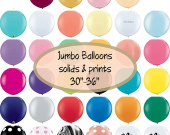 "Large Balloons Giant Size Party Balloons Jumbo 30""- 36"" Latex Balloons for Birthdays Weddings Events"