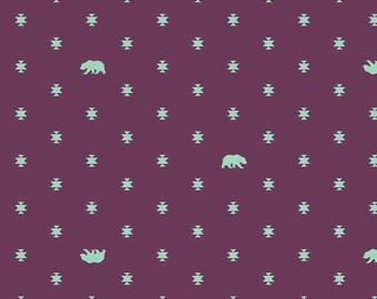BEAR HUG Lunar Glow Spirit Animal PWTP101.LunarTula Pink Sold in 1/2 yd increments