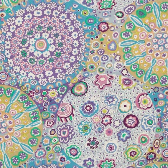 MILLEFIORE  in LILAC GP92 Kaffe Fassett Collective Sold in 1/2 yard increments
