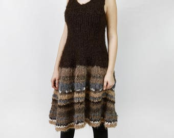 Hand knitted sleeveless dress