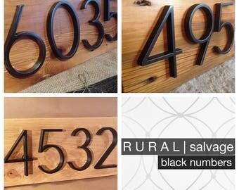 R U R A L | salvage Modern Black House Numbers