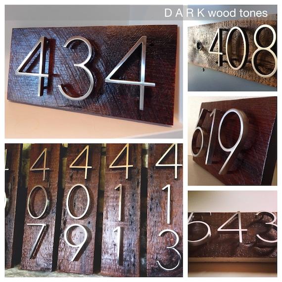 R U R A L salvage Modern Nickel House Numbers