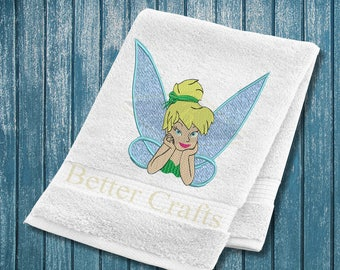 Tinkerbell Embroidery Design, Fairy Embroidery Design, Disney Fairy Embroidery Design, Baby Embroidery Design, Girl embroidery design