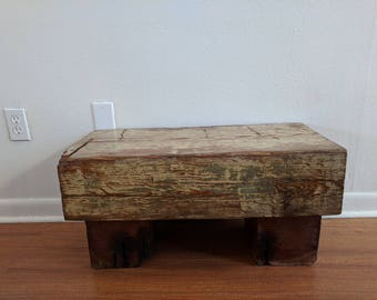 Reclaimed Wood Bench/Table