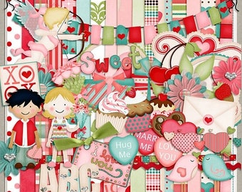 ON SALE NOW 65% off Sugar Valentines Digital Scrapbook Kit