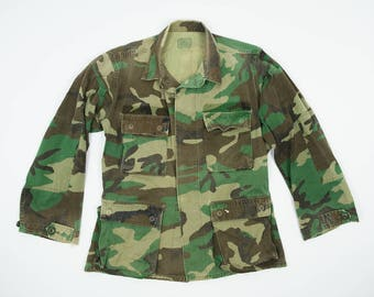 Vintage Camo Army Jacket Men's Small - U.S. Marines Jacket Small Regular - Camouflage Jacket Lightweight Men's Small - Army Jacket S