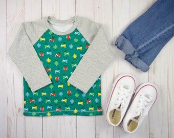 Toddler Boy Shirt - Baby Shirt - Bugs T-shirt - Toddler Baseball Shirt - Green shirt - Baby Clothing - Boy Girl Shirt