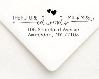 Personalized Self Inking Return Address Stamp - self inking address stamp - Custom Rubber Stamp, Wedding address stamp A26