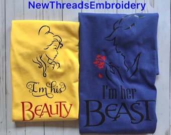 Couple's Shirts Belle and Beast
