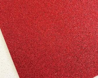 Red Fine Glitter Fabric Sheet A4 or A5 Sheet Fine Red Glitter Fabric