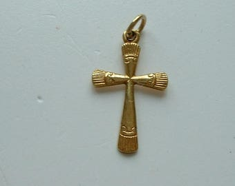 Vintage rolled gold cross pendant