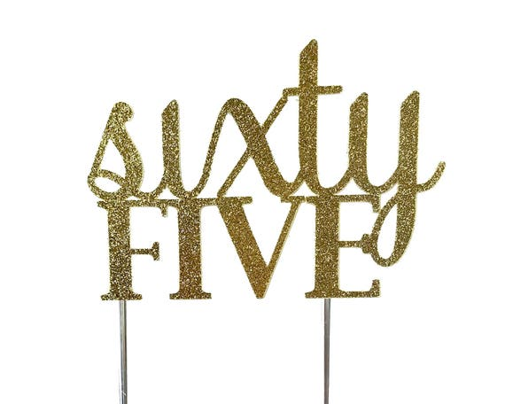 Cake Topper Birthday Toppers Sixty Fifth 65th