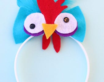 Moana Hei Hei Costume, Hei Hei costume, Moana Headband, Moana Rooster Headband, Moana Rooster Costume, Moana Hei Hei Halloween Headband