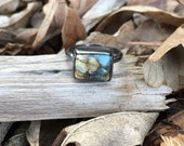 Reserved for Megan - Handmade Seven Dwarfs and Sterling Silver Ring - size 6.25 - 6.5
