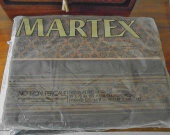 Vintage Martex Percale Twin Flat Sheets - Memento