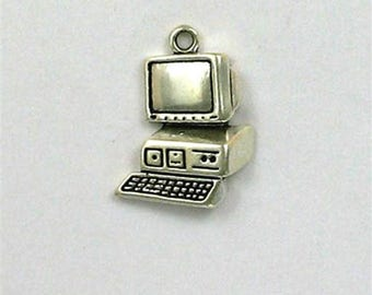 Sterling Silver Computer & Monitor Charm