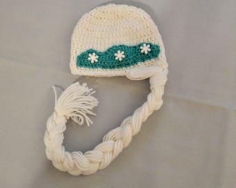 Crocheted Elsa hat, elsa hat, elsa photo prop, baby hat