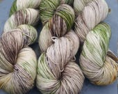 At the bog (turf) - hand dyed to order sock yarn