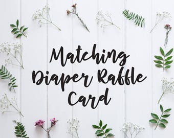ADD ON: Matching Diaper Raffle Ticket to coordinate with any Bohemian Woods Baby Shower Invitation Design - PDF Design file