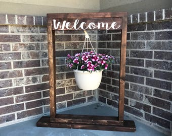 Welcome Hanging Planter