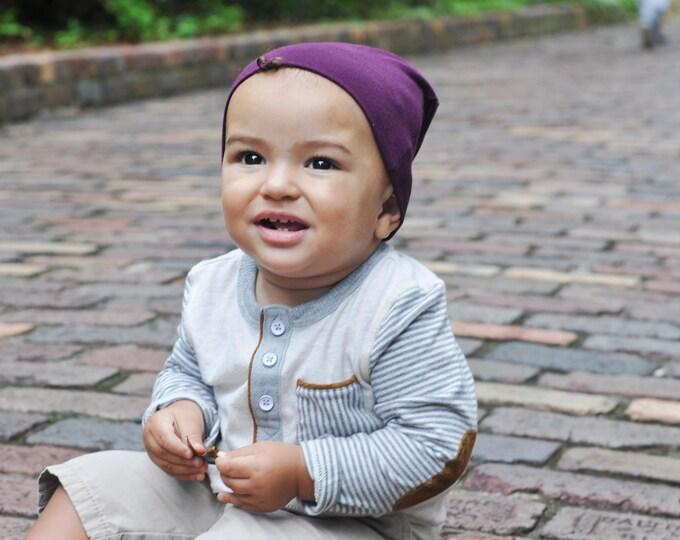 Purple Slouchy Baby Beanie
