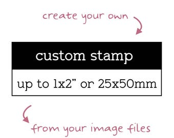 "Custom Logo Stamp, Up to 1""x2"", Personalised Business Stamp, Custom Image Stamp, Custom Branding Stamp, Custom Business Stamp, Craft Stamp"
