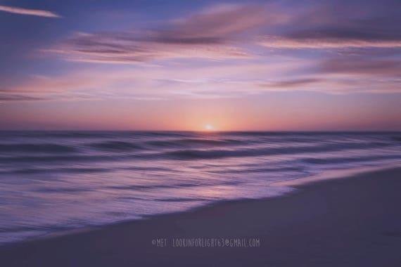 Dreamy Beach Photo | Surreal Ocean Tide | Violet Ocean Sunset | Leo Carillo State Park | Malibu Beach | Abstract Ocean | Pacific Ocean Waves