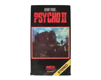 Psycho II VHS Horror 80s Anthony Perkins Norman Bates Motel