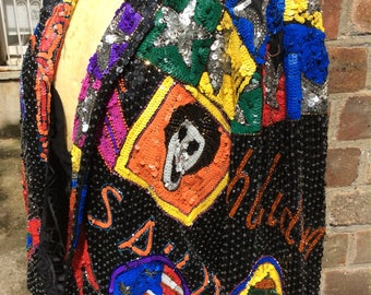 Authentic vintage sequined bomber jacket