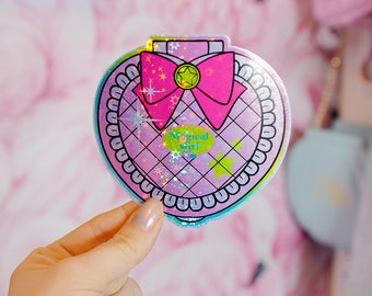 Magical Girl, Sailor Moon X Polly Pocket Style Holographic Sticker