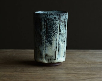 Square Yunomi - tea cup. Made from local native clay from The Dingle Peninsula.#216