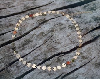 Gold Coin Chain Layering Necklace *Dainty,Boho,Festival*