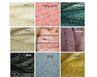 Super Soft Knit Fabric for Baby Newborn Wrap, Maternity Photo Prop, Fabric Stuffer, Textured posing fabric