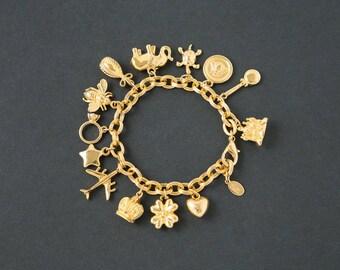 Vintage Joan Rivers Charm Bracelet