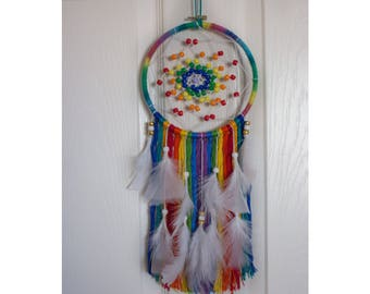 Rainbow Dream Catchers, Wedding Dream Catchers, House decor, Bedroom decor, Wall hanging